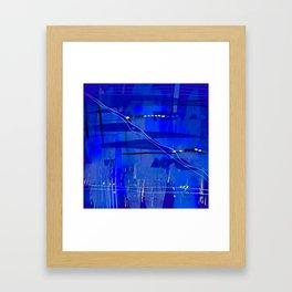 Blue mix Framed Art Print