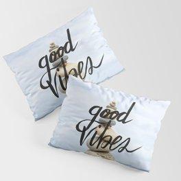 Good Vibes - Rock balancing Pillow Sham