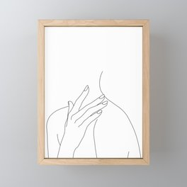 Female body line drawing - Danna Framed Mini Art Print