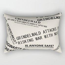 1926 Wizard Newspaper Headlines - Grindelwald Rectangular Pillow