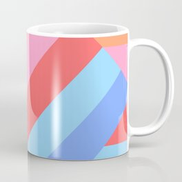 Matted Pastel Rainbow Layered Coffee Mug