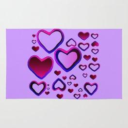 Transparent Heart Rug