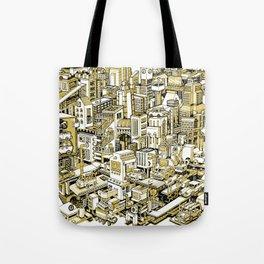 City Machine - Gold Tote Bag