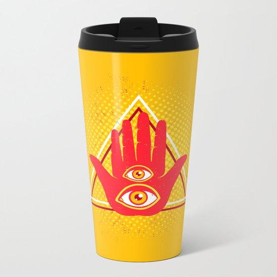 Hand and eye Metal Travel Mug