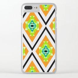 Tropical diamonds Clear iPhone Case