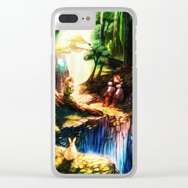 entertaining giver to peace Clear iPhone Case