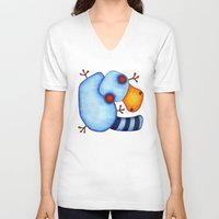 platypus V-neck T-shirts featuring Platypus by Striped Aardvark