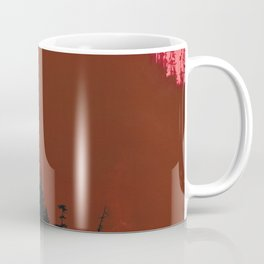 Into The Woods - Dark Forest - Red Coffee Mug