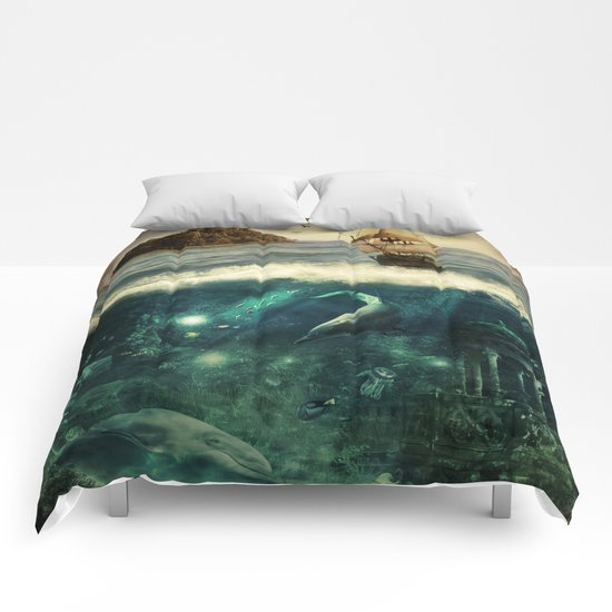 Water World Fantasy Scenery  Comforters