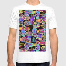 Colorful hands MEDIUM Mens Fitted Tee White
