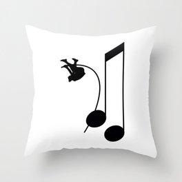 Note Vaulter Throw Pillow