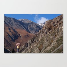 Enjoying the Scenery Yak Kharka to Thorung Phedi Canvas Print