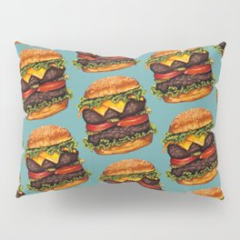 Double Cheeseburger Pattern Pillow Sham