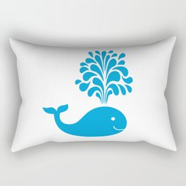 Funny whale Rectangular Pillow