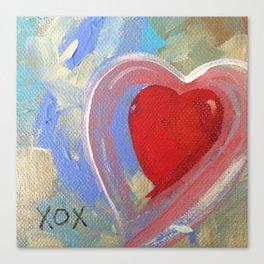 Jewel XOX Heart Canvas Print