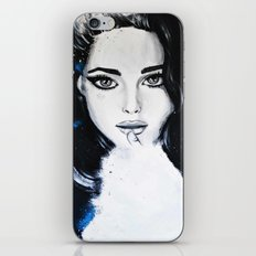Miss M. in Blue  iPhone & iPod Skin