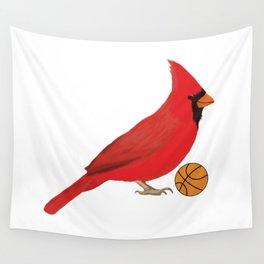 Basketball Cardinal Wall Tapestry