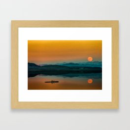 Serene Sunrise by the Lake Framed Art Print