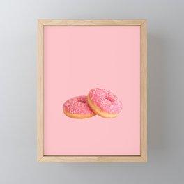 Pink Donuts Framed Mini Art Print