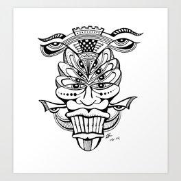 Multi-Eyed Mask Art Print