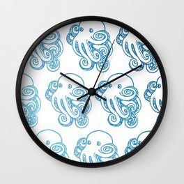 ombre octopuses Wall Clock