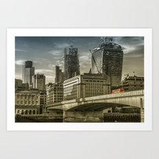 London North Bank Art Print