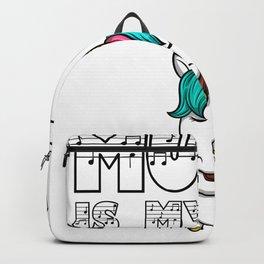 Music Unicorn Violin violin Unicorn kid gift Backpack