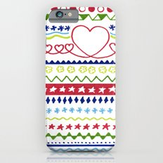 Classic Christmas pattern Slim Case iPhone 6s