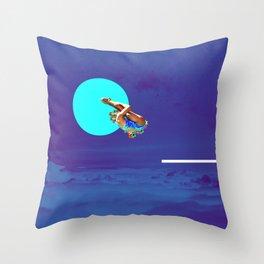 Moonlight Dive Throw Pillow
