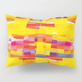 yellow pixel storm Pillow Sham