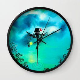 Red Flag Wall Clock