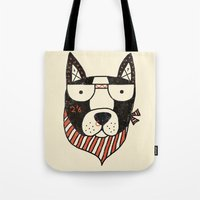 dog Tote Bags featuring Dog by Farnell