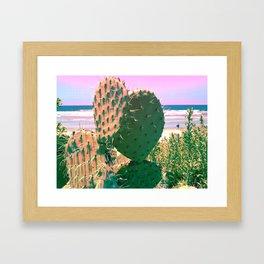 Beachside Cactus Framed Art Print