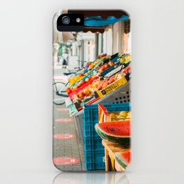 Utrecht Lombok -  colorful fruit - street photography iPhone Case