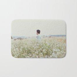 Man - Flowers - Field - Photography Bath Mat