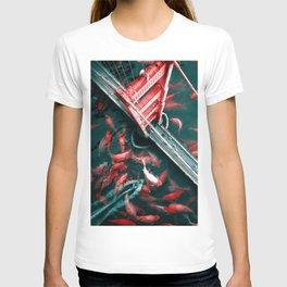 Golden Gate Fish - Julien Tabet - Photoshop Artwork T-shirt