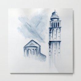 Untitled - campanile Metal Print