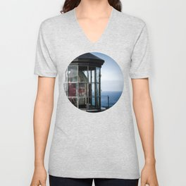 Cape Meares Lighthouse Unisex V-Neck