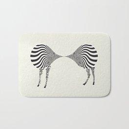 zebra mating Bath Mat