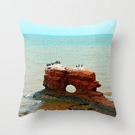 Cape Egmont Sandstone Formation Throw Pillow