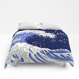 Great Blue Wave Comforters