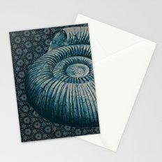 Ammonite on pattern 2201 Stationery Cards