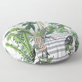 greenhouse illustration Floor Pillow