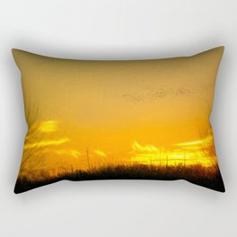 January Sunet - Lehigh Valley (Impressionist Version) Rectangular Pillow