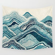 Blue Hike  Wall Tapestry
