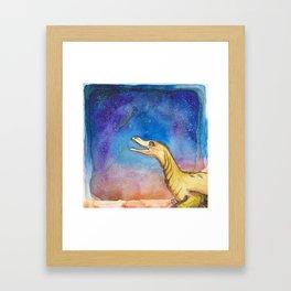 space velociraptor Framed Art Print