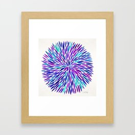 Lavender Burst Framed Art Print