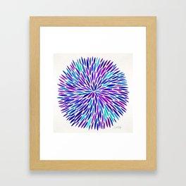 Lavender Burst Framed Art Print