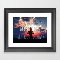 Yoga Quote Framed Art Print