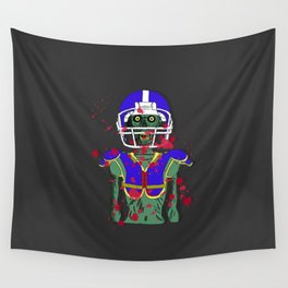 Zombie Football Player Wall Tapestry